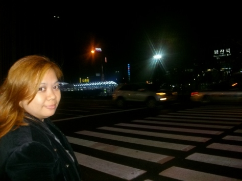 in front of Busan Station