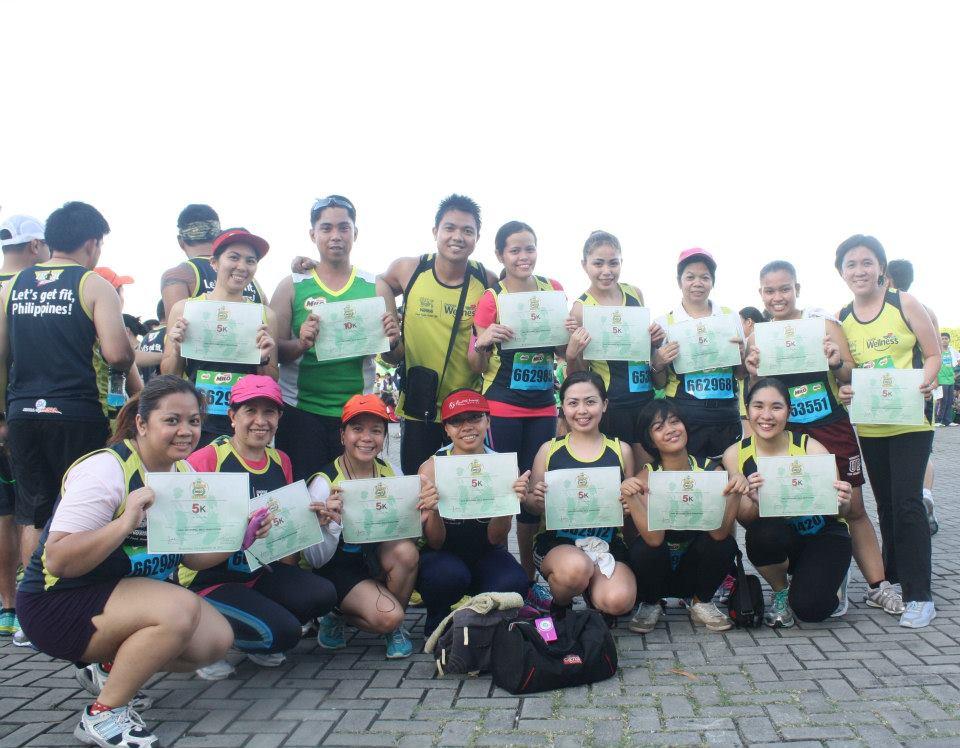 Finishing the Milo Marathon together!