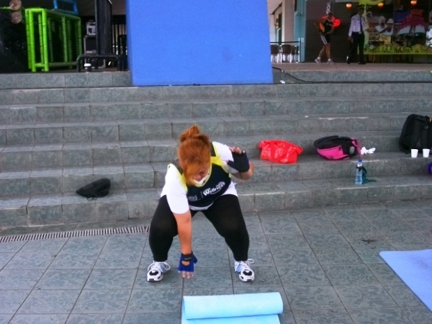 Sweating for 100 squats!