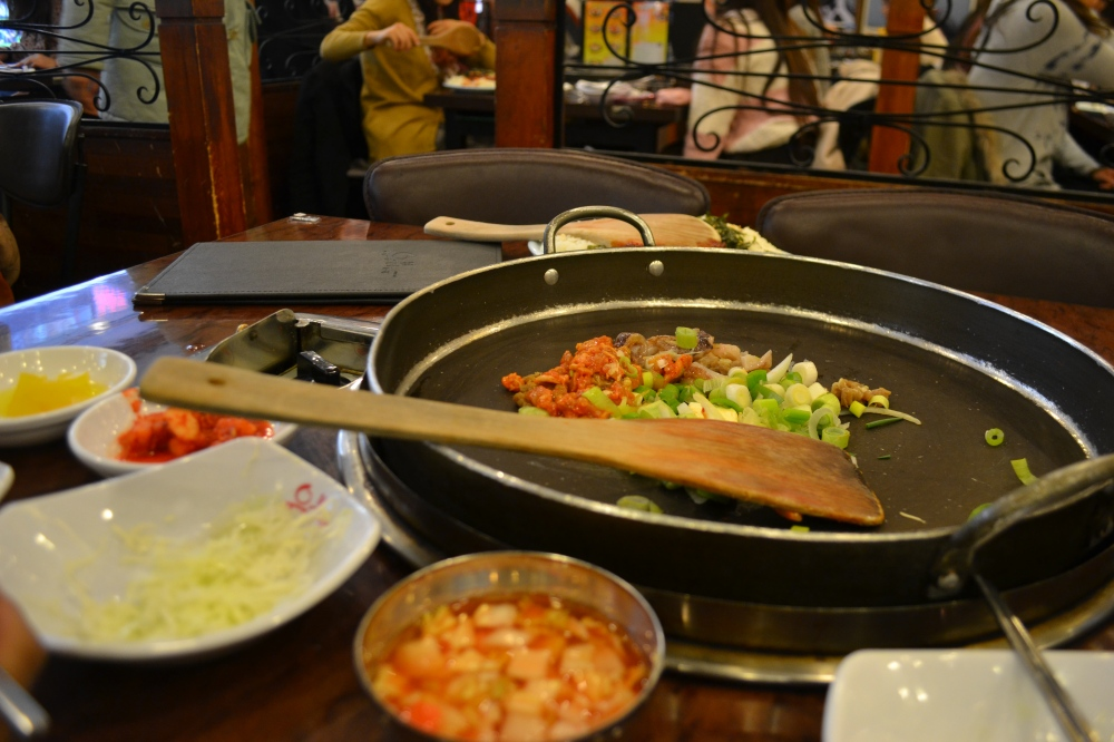 Our sumptuous spread at Yoogane, Myeongdong, SK