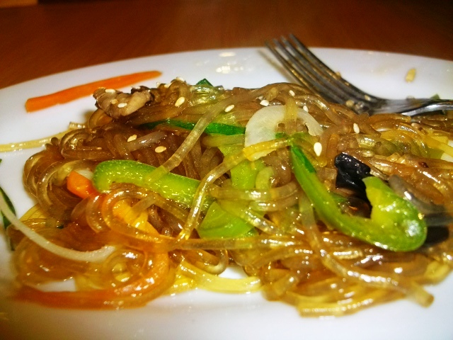 Korean stir-fried noodles or JapChae, PHP190