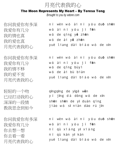 lyrics in simplified Chinese (credit to owner)