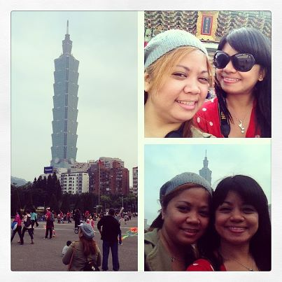 On our way to Taipei 101 (pic courtesy of the Queen's instagram account)