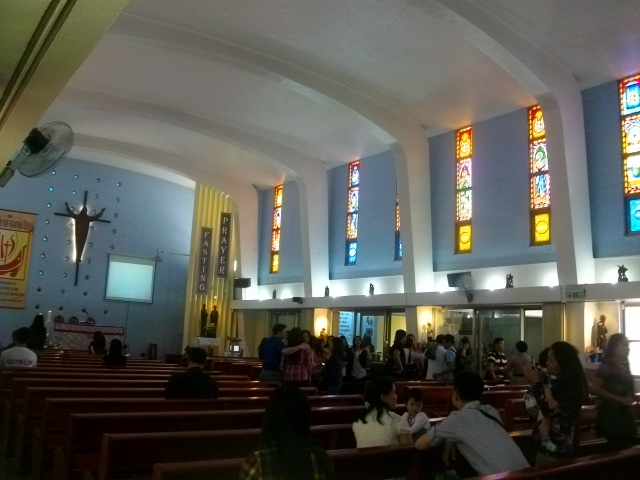 St. Christopher's Church in Yuashan (red line), near the Taipei Expo Park - best mass I attended
