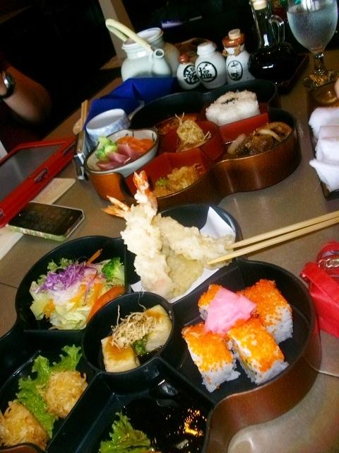 Our order: California Hana Bento (front) and Tepanyaki Hana Bento (PHP550 per order)