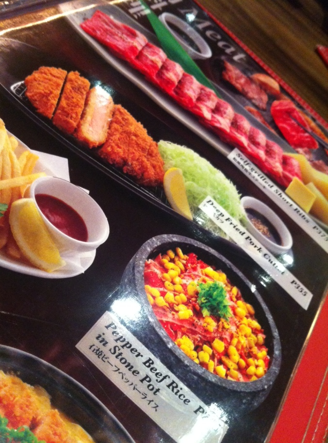 nice lay-out, inviting pictures that you'd want to tear off the menu