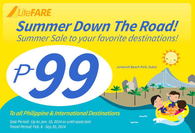 USD2.50* for the destination of your dreams!