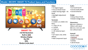 Get your 40-inch Coocaa SMART TV for only PHP13,990 – exclusively at
