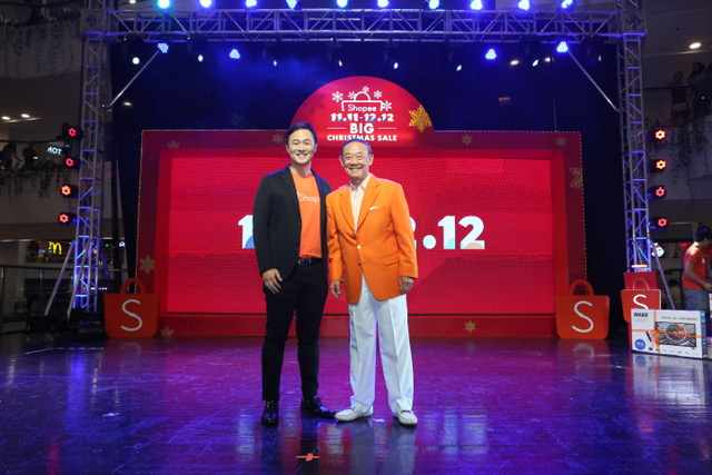 Shopee Head of Business Intelligence, Martin Yu with Jose Mari Chan